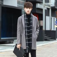 青年加厚修身中长款羊绒毛呢大衣羊毛妮子风衣外套韩国冬季男装潮