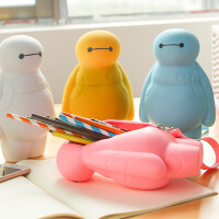 可爱学生铅笔袋男女韩国创意简约笔盒学习用品硅胶大白款学习