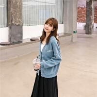 七格格开衫外套女针织2020年新款女装春季韩版百搭复古港味棒球服