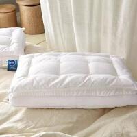 家纺全棉贡缎双层羽丝绒枕芯 安心熟睡枕 不变形 双层枕/只