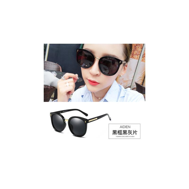 时尚墨镜女潮 偏光太阳镜圆脸 个性驾驶眼镜长脸 品质保证 售后无忧 支持货到付款