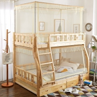 儿童子母床蚊帐上下铺1.5m双层床单人1.2m高低床拉链支架蚊帐定制