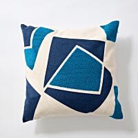 高品质毛巾绣棉抱枕含芯沙发垫轻奢民宿客厅床头北欧靠垫抱枕套
