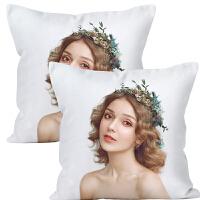照片抱枕头定制作来图定做DIY真人双面私人订做礼物自制两面靠垫