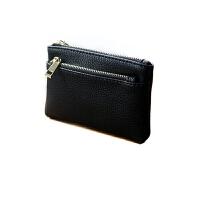 新款短款钱包女时尚拉链零钱包硬币包简约卡包女士纯色钥匙包