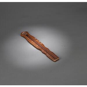 清代铜古琴形纸镇或香插