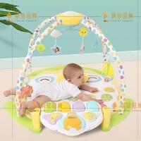 婴儿健身架0-3-6个月新生儿宝宝投影灯音乐发光脚踏玩具