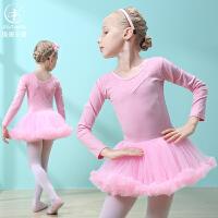 儿童舞蹈服练功服女童纱裙秋长袖女孩跳舞服装幼儿连体芭蕾舞蹈裙