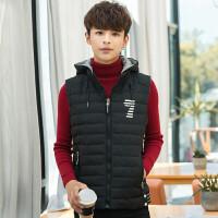 14青少年羽绒棉马甲男孩韩版背心12大童中小学生秋冬装13岁17外套