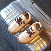 春季儿童鞋男童豆豆鞋宝宝鞋女童小皮鞋黑色休闲板鞋软底单鞋