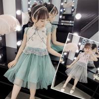 女童裙子2019新款春装4儿童装连衣裙5小女孩7纱裙公主裙9岁