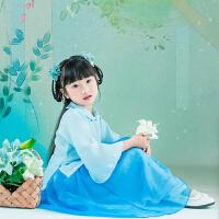 儿童汉服女童装小孩中国风女童国学服古装表演服古筝舞蹈演出服装