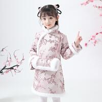 女童旗袍冬季汉服秋冬棉衣中国风儿童唐装宝宝拜年服
