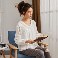 【优惠券300-89,600-149,仅限17-21日]唐狮2020春新款衬衫 女长袖衬衫