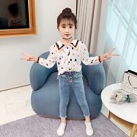 女童衬衫新款春装时髦春秋款长袖小女孩衬衣儿童上衣