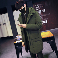 2017新款羽绒服男士韩版修身中长款加厚外套青年学生潮流男冬季装