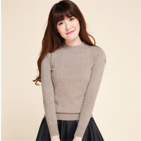 秋冬加绒加厚上衣女半高领长袖棉质T恤韩版修身保暖内搭打底衫