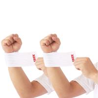 护手腕肘 可调节护手腕男女夏季运动健身扭伤自粘护肘护踝护膝弹力绷带薄款HW 白色 绷带40【买1送1】 均码