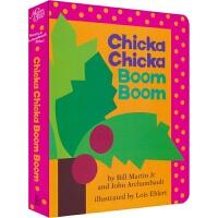 【首页抢券300-100】Chicka Chicka Boom Boom 叽喀叽喀碰碰 纸板书 儿童字母启蒙认知 凯迪克