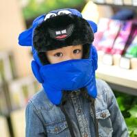�和�帽子秋冬款男童冬季帽子女童小孩冬天帽����保暖帽雷�h帽�o耳 均�a 3-9�q小童款49-54cm