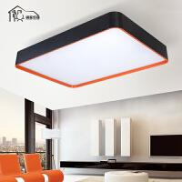 祺家 LED吸顶灯卧室灯长方形客厅灯简约造型办公灯具可做吊灯苹果灯 IX58