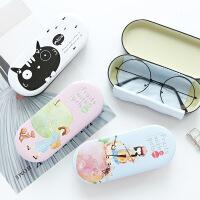 大近视眼镜盒女韩国小清新简约复古创意可爱学生马口铁墨镜盒