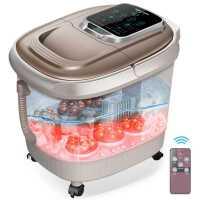 足浴盆全自动按摩洗脚盆电动恒温加热泡脚桶神器家用高深桶kb6