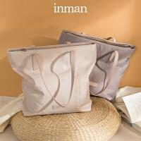 茵曼大容量托特包新款包包女简约通勤包女包时尚单肩手提包袋