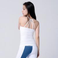 瑜伽背心女性感美背带胸垫聚拢瑜伽服上衣速干吸汗镂空健身衣