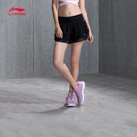 李宁运动短裤女士2018新款跑步系列梭织短装夏季运动裤AKSN016