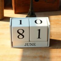 物有物语 摆件 木质创意桌面手动小日历摆件家居书房办公桌面装饰品摆饰品