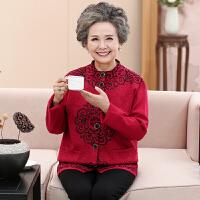 中老年女装外套加厚妈妈装老人衣服春秋短款唐装60奶奶装70岁外套