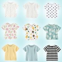 淘气麦兜 新款宝宝T恤短袖男童2018婴儿童夏季简约体恤多色韩版上衣夏装3岁1潮2