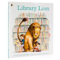 图书馆的狮子 Library Lion 英文原版绘本 教会孩子遵守规则 儿童启蒙图画故事书 亲子共读 平装 Miche