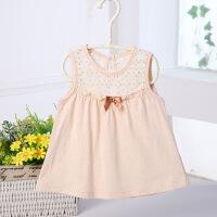 活力熊仔 女童装夏季婴儿服装公主裙宝宝无袖连衣裙纯棉背心童裙