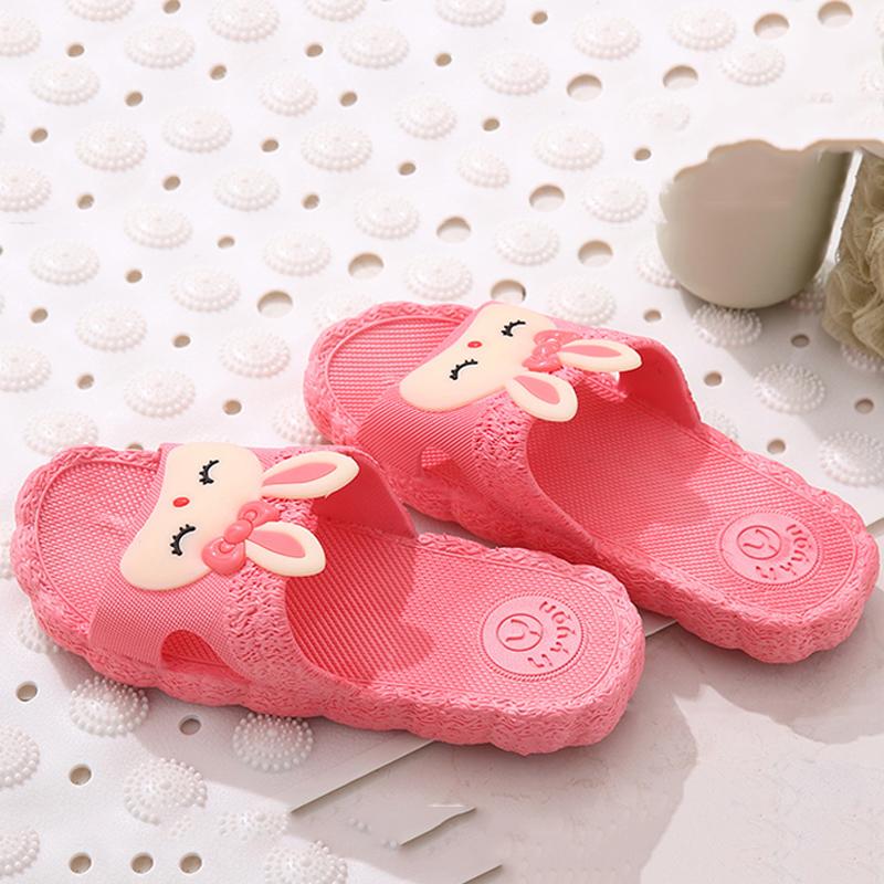 家居拖鞋女夏室内可爱防滑浴室软底卡通居家用洗澡塑料凉拖鞋情侣