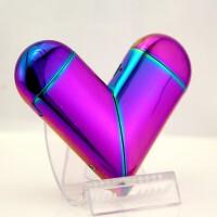充气充电双用打火机创意个性折叠魔法爱心 魔方桃心气电两用 1个