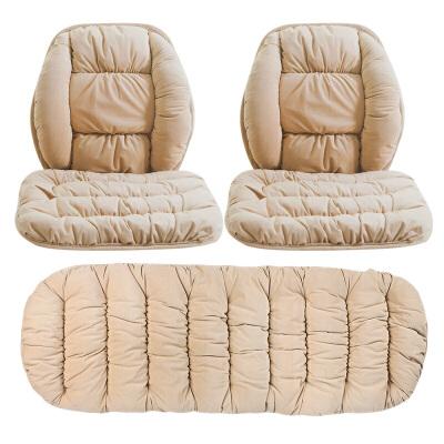 汽车坐垫冬季新款短毛绒无靠背三件套防滑免绑保暖座垫汽车用品