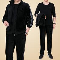 运动套装男士秋冬季加绒加厚2017新品三件套运动服男冬装大码