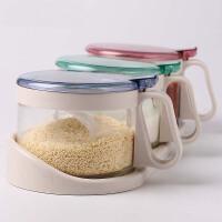 调料盒厨房用品玻璃盐罐调味罐家用佐料瓶收纳盒组合装调味瓶套装