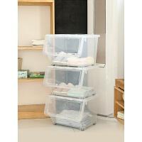 透明塑料收�{箱�和�玩具�s物零食�N房收�{盒特大�前�_式�ξ锵� 透明