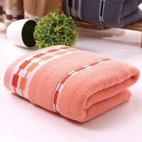 全棉链条浴巾如意情侣浴巾柔软吸水素色提花酒店广告礼品浴巾 140x70cm