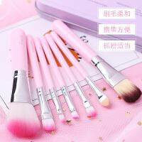 铁盒化妆刷 7件全套装 腮红刷彩妆工具刷子粉刷唇刷眼影刷散粉美妆 L309-KT猫刷 人造纤维