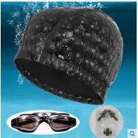游泳装备帽子结实牢固弹力耐用大号游泳帽 PU大号泳帽 泳镜 鼻夹耳塞
