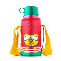儿童吸管保温水壶背袋男女卡通不锈钢保温杯焖粥杯 600ml