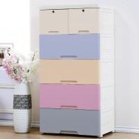 收纳柜塑料加厚抽屉式多层婴儿童宝宝衣柜整理衣物储物柜五斗柜橱