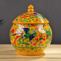 手工茶叶罐陶瓷大号普洱醒茶罐七子饼储茶茶盒缸茶具防潮包装