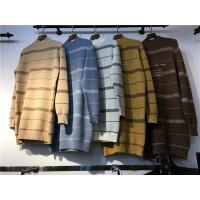 G6条纹毛衣女秋冬中长款 半高领宽松打底衫韩版套头长袖针织衫0.7