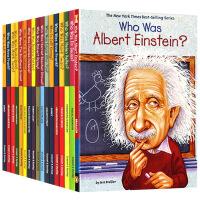 Who Was 英文原版 名人传记系列17本装 谁是爱因斯坦 乔布斯 达芬奇 莎士比亚 爱迪生 中小学生读物 英文版正
