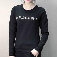 Adidas阿迪达斯 NEO 女子 运动卫衣 圆领休闲套头衫CE3514
